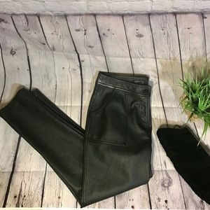 Topshop faux leather pants